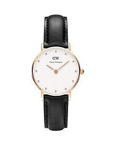 daniel-wellington-rose-gold-tone-26mm-case-leather-strap-ladies-watch