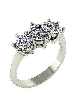 moissanite-9-carat-gold-2-carat-trilogy-ring