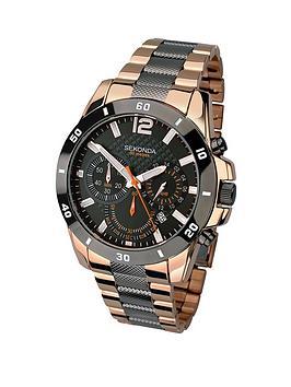 sekonda-chronograph-rose-gold-and-gunmetal-two-tone-bracelet-mens-watch