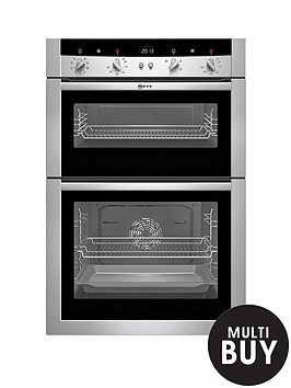 neff-u15m52n3gb-built-in-double-electric-oven-stainless-steel