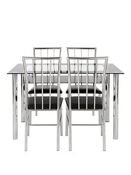 vienna-120cm-glass-dining-tbale-4-chairs