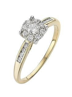 the-astral-diamond-9-carat-yellow-gold-28-point-cluster-ring-with-stone-set-shoulders