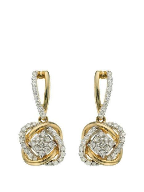 love-diamond-9-carat-yellow-gold-33-point-diamond-infinity-crossover-earrings