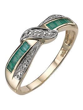 love-gem-9-carat-yellow-gold-diamond-set-emerald-eternity-ring