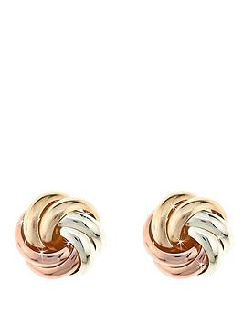 love-gold-9-carat-three-colour-gold-7mm-knot-earrings