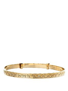 love-gold-9-carat-yellow-rolled-gold-flower-expander-bangle