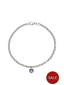 love-gem-9-carat-white-gold-amethyst-heart-drop-belcher-bracelet