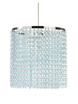 crystal-style-easy-fit-pendant-light-shade-ndash-duck-egg