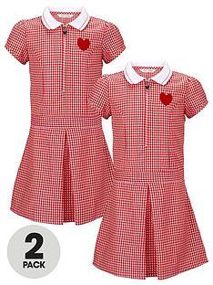 top-class-girls-rib-collar-dropped-waist-summer-dresses-pack-of-2