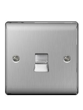 british-general-brushed-steel-1-gang-telephone-socket-master-screw-type