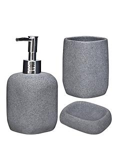 aqualona-greystone-3-pack-lotion-bottle-tumbler-and-soap-dish