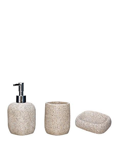 aqualona-sandstone-3-pack-lotion-bottle-tumbler-and-soap-dish