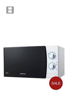 samsung-me711kxeu-20-litre-800-watt-solo-microwave-with-ceramic-enamel-interior-white