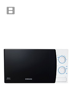 samsung-me711kxeu-20-litre-800-watt-solo-microwave-with-ceramic-enamel-interior-white