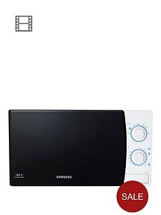 samsung-me711kxeu-20-litre-800-watt-solo-microwave-with-ceramic-enamel-interior-whitenbsp