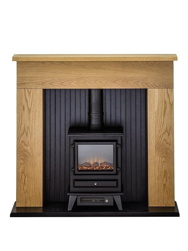 Adam Fires Fireplaces Innsbruck Oak, Oak Electric Fireplaces