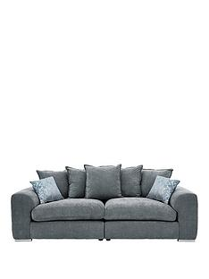 1458099466: Cavendish Sophia 4-Seater Fabric Sofa