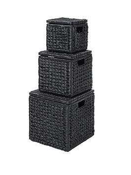 set-of-3-nested-lidded-arrow-weave-storage-boxes