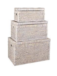 set-of-3-arrow-weave-chests-white