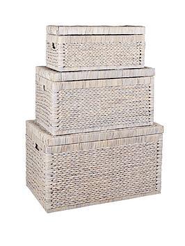 set-of-3-arrow-weave-wicker-storage-chestsnbsp--white