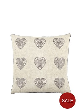 catherine-lansfield-vintage-hearts-cushion--nbspsilver