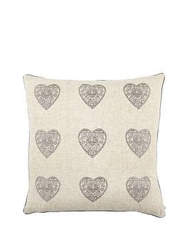 catherine-lansfield-vintage-hearts-cushion--nbspsilver