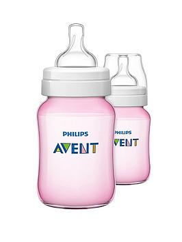 avent-classic-feeding-bottles-260ml9oz-twin-pink
