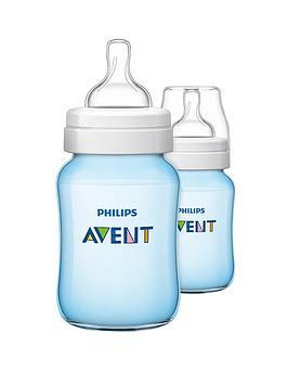 avent-classic-feeding-bottle-260ml9oz-twin-blue