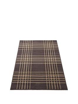 tartan-check-rug