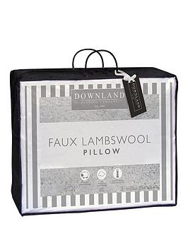 downland-faux-lambswool-fleece-covered-single-pillow