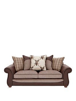 arrannbspfabric-and-fauxnbsphide-3-seaternbspscatter-back-sofa