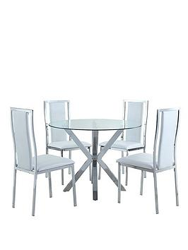 chopstick-100cm-round-glass-dining-table-4-atlantic-chairs-white