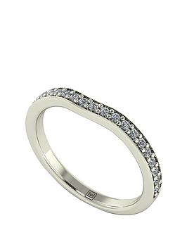 moissanite-premium-collection-9-carat-white-gold-25-point-25mm-fitted-wedding-band