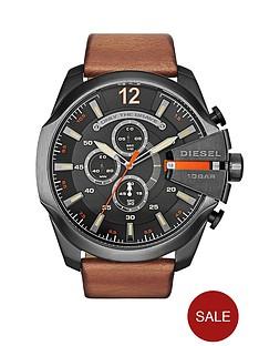 diesel-mega-chief-black-dial-and-gunmetal-tone-tan-leather-strap-mens-watch