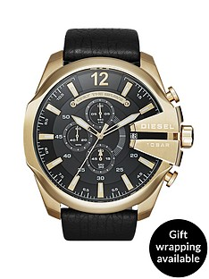 diesel-mega-chief-black-dial-and-gold-tone-stainless-steel-black-leather-strap-mens-watch