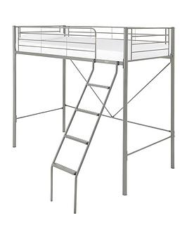 kidspace-domino-high-sleeper-bed-frame-with-optional-mattress