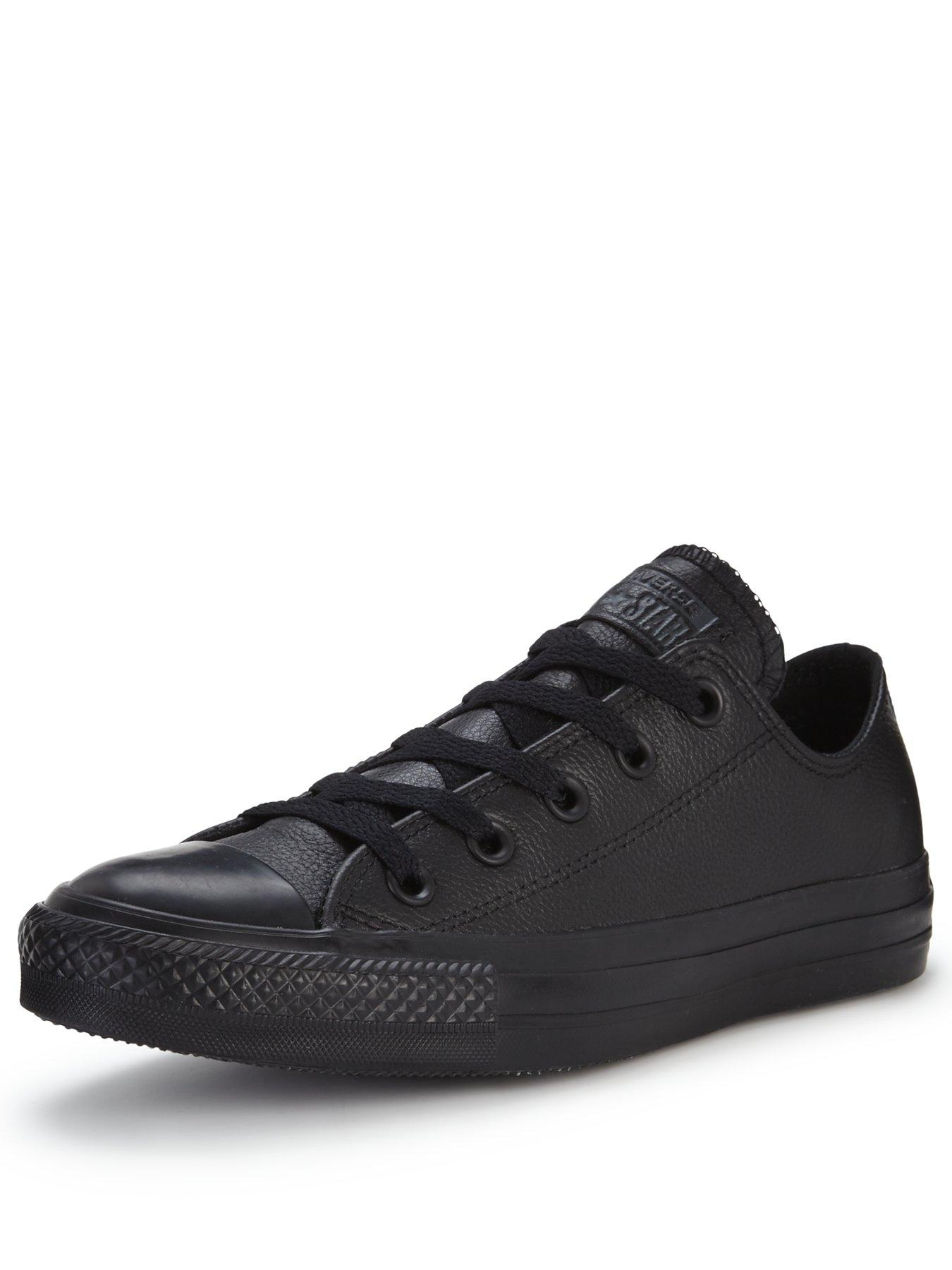 fully black converse