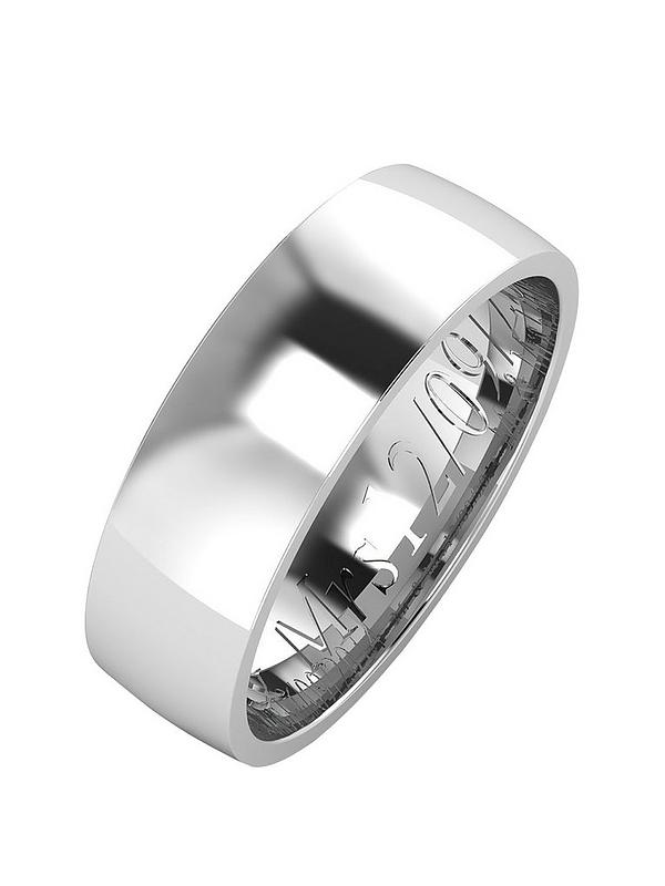 The Love Silver Collection Personalised Argentium Silver Wedding