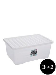 wham-45-litre-clear-plastic-storage-boxes-set-of-2