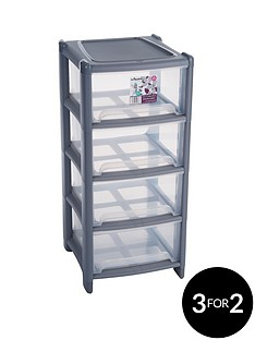 wham-4-drawer-tower-storage-unit-grey
