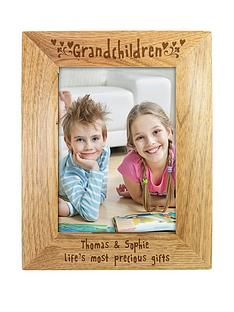 personalised-grandchildren-wooden-photo-frame