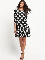 Kelis Mono Spot Dress