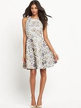 Amelia Embroidered Fit And Flare Dress