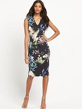 Daris Floral Scuba Dress