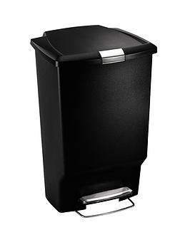 simplehuman-45-litre-plastic-pedal-bin-black