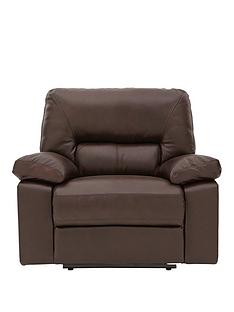 Newberg Premium Leather Manual Recliner Armchair
