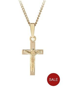 love-gold-9ct-yellow-gold-crucifix-childrens-pendant