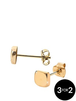 love-gold-9-carat-gold-square-stud-earrings