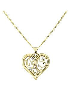 love-gold-9-carat-yellow-gold-diamond-set-heart-filigree-pendant