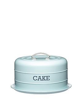 living-nostalgia-vintage-domed-cake-tin-blue